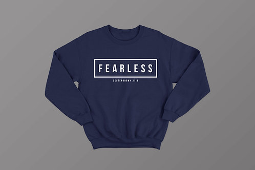 Fearless Christian Bible Verse Sweatshirt Christian Apparel by Stay Lit Apparel UK