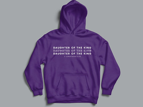 Daughter of the King Hoodie Christian Clothing UK by Stay Lit Apparel