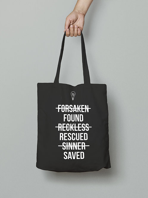 Found Rescued Saved Tote Bag