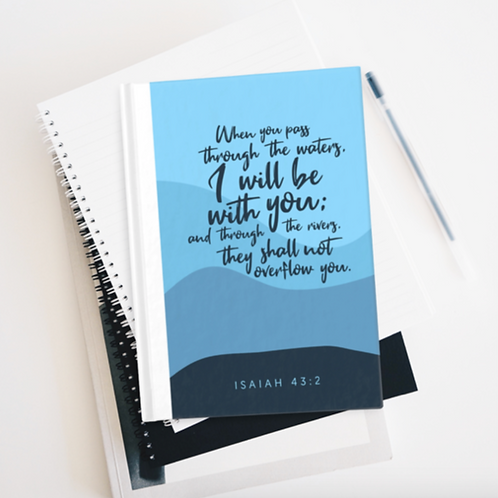 Bible Verse Journal, I will be with you, Prayer journal, Stay Lit Apparel, Christian Gifts, Christian Journal gift UK,