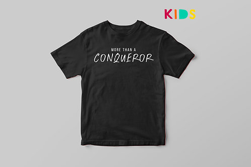 More than a conqueror Christian T-shirt for Kids, Stay Lit Apparel Christian Clothing UK