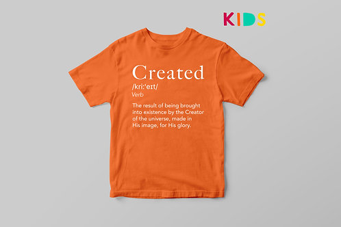 Created Definition Kids T-shirt by Stay Lit Apparel Christian Clothing UK