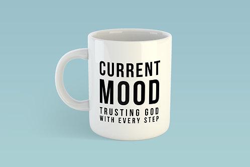 Trust God Mug, Christian Mug, Christian coffee cup, Stay Lit Apparel, Christian Gifts UK