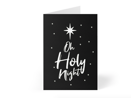 Pack of Christian Christmas Cards, Oh Holy Night, Stay Lit Apparel, Christian Greetings Cards