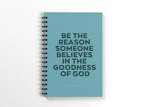 Goodness of God Spiral Bound Notebook, Christian Prayer Journal for Her