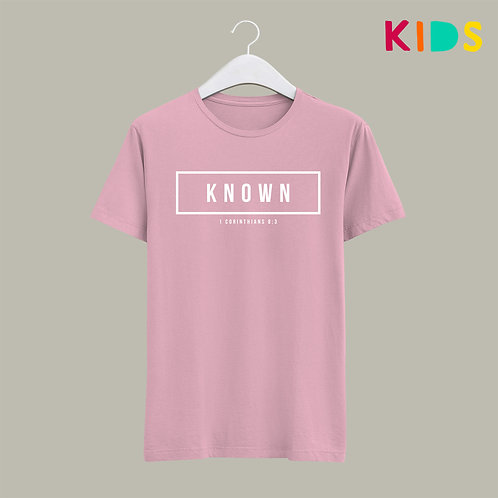 Known Kids Bible Verse T-shirt Christian Clothing UK Stay Lit Apparel