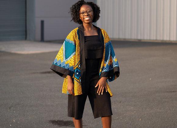 African Print Kimono Midi