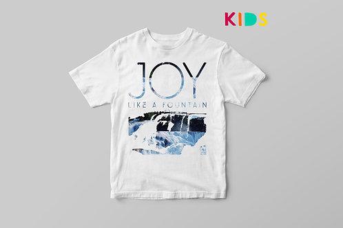 Joy Like a fountain Christian T shirt for Kids, Joy Kids T shirt, Stay Lit Apparel UK
