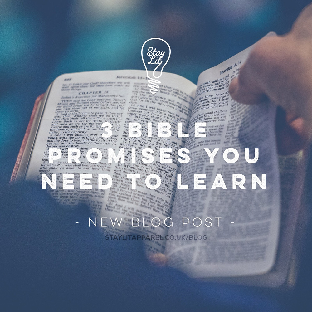 Bible Promises You need to Learn - Christian Apparel Brand Stay Lit Apparel