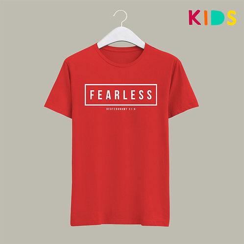 Fearless Kids Bible Verse T-shirt Stay Lit Apparel Christian Clothing UK