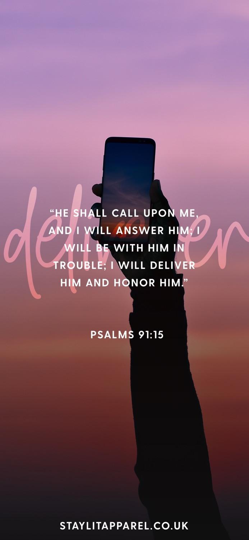 Bible Verse Lock Screen by Stay Lit Apparel Psalms