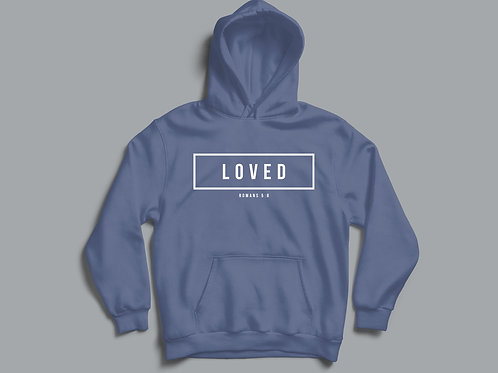 Loved Christian Bible Verse Hoodie Christian Clothing Apparel by Stay Lit Apparel UK