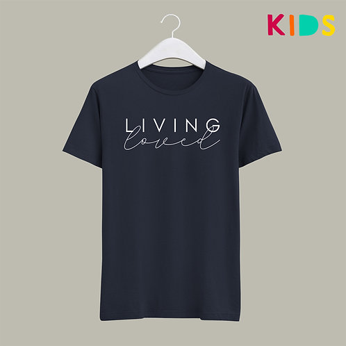 Living loved Christian Kids T-shirt by Stay lit Apparel Christian Clothing