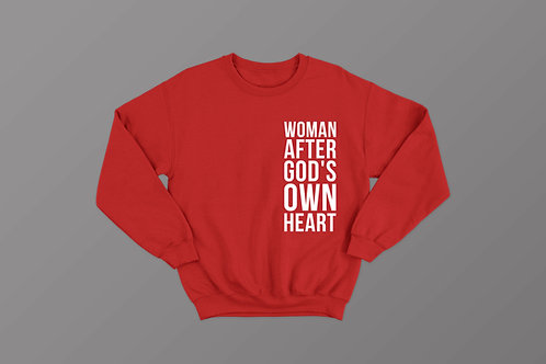 Woman after God's own heart, Christian Sweatshirt, Stay Lit Christian Clothing brand uk