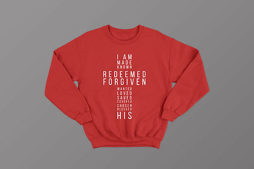 I am His Christian Definition Sweatshirt Christian Apparel by Stay Lit Apparel UK
