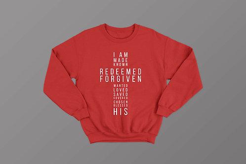 I am His Christian Sweatshirt
