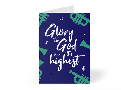 Pack of Christian Christmas Cards, Glory to God in the Highest, Stay Lit Apparel, Christian Greetings Cards