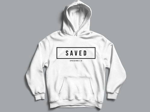 Saved Christian Bible Verse Hoodie Christian Clothing Apparel by Stay Lit Apparel UK