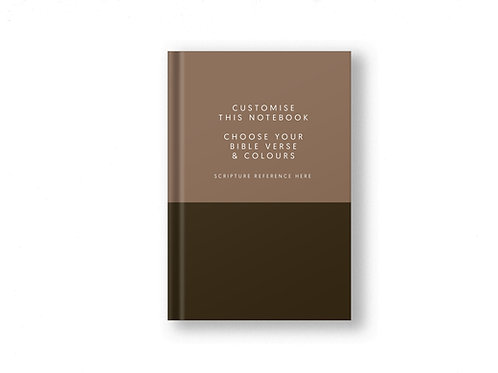 Brown Christian Journal, Two Toned Christian Bible Verse Journal for him