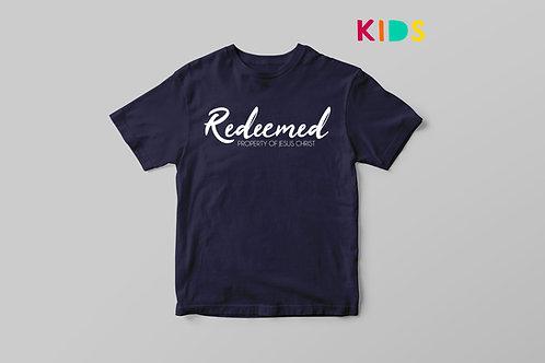 Redeemed Children's Christian T-shirt, Stay Lit Apparel, Christian Clothing UK