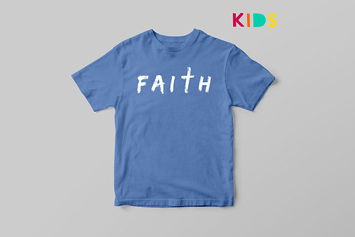 Faith Kids Christian T-shirt, Christian Clothing by Stay Lit apparel UK