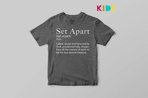 Set Apart Christian Clothing for Kids, Christian Definition Children's clothing UK, Stay Lit Apparel