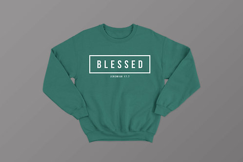 Blessed Bible Verse Sweatshirt Christian Apparel by Stay Lit Apparel UK