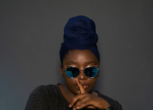 Navy Blue Jersey Headwrap UK, Soft Jersey Headwrap, Stretch Headwrap, Viscose Jersey, Asikara by Laura Jane Plain Head Wrap