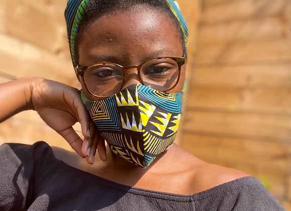 African print face mask Asikara by Laura Jane African clothing and accessories