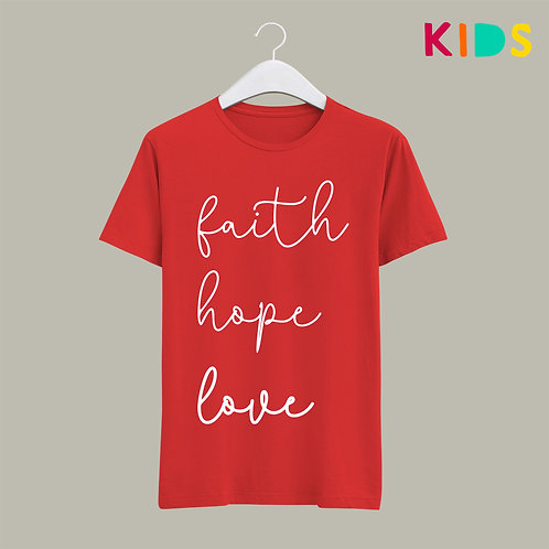 Faith Hope Love Bible Verse Christian Clothing for Kids Stay Lit Apparel UK