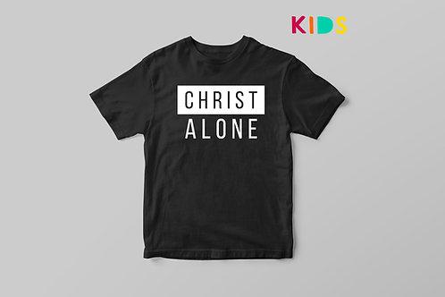 Christ Alone Kids T-shirt, Christian Clothing UK