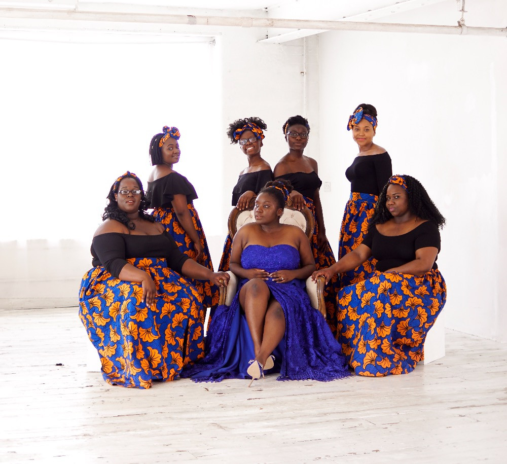 African Bride and bridesmaids , Kitchen party