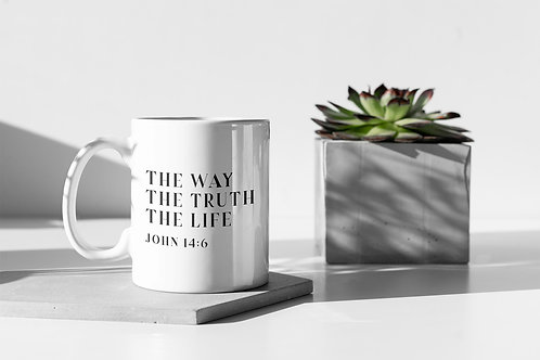 Bible Verse Christian Gift Way truth life Jesus mug by Stay Lit Apparel UK