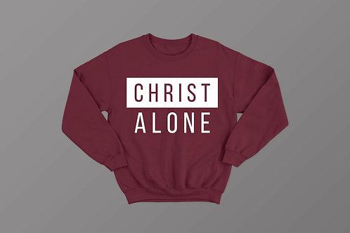 Christ Alone Sweatshirt Christian Clothing by Stay Lit Apparel