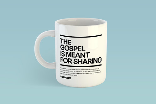 The gospel is meant for sharing mug