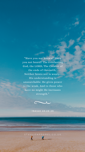 Isaiah 40:28-29