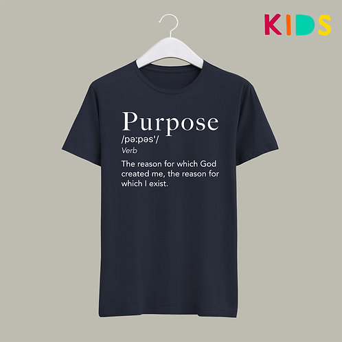 Purpose Definition T-shirt Kids Dictionary Christian Clothing UK Stay Lit