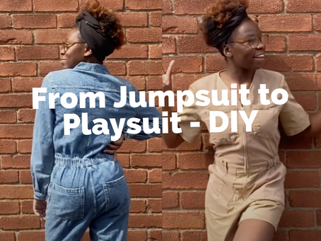 From Jumpsuit to Playsuit   My Upcycled Summer Wardrobe   #AsikaraDIY
