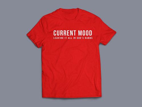 Current mood leaving it in God's hands T-Shirt, Christian T Shirt UK