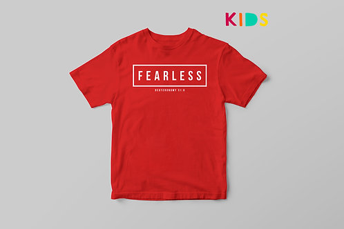 Fearless Kids Bible Verse T-shirt Stay Lit Apparel Christian Clothing UK
