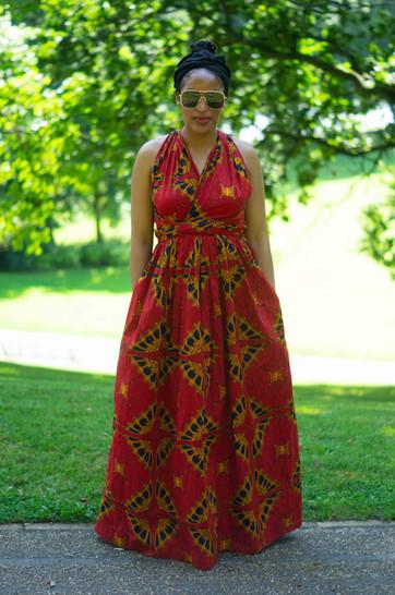 African Print Infinity Dress