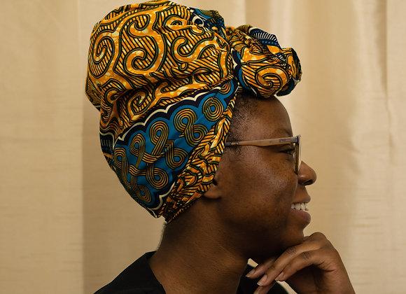 African print headwrap uk, Asikara by Laura Jane, Headwraps UK