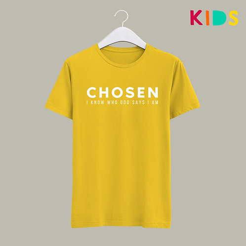 Chosen I know who God says I am Christian Kids T-shirt by Stay Lit Apparel