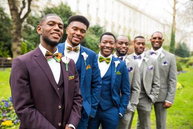 Custom Bow Ties for groom and groomsmen