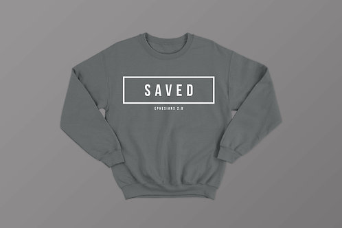 Saved Christian Bible Verse Sweatshirt Christian Clothing Apparel by Stay Lit Apparel UK