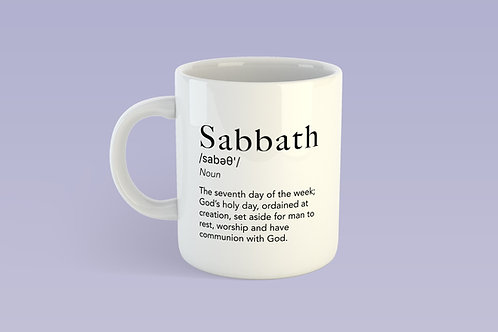 Sabbath Definition Mug, Christian Gifts, 11oz Mug, Scripture Mug, Quote Mug, Christian Gifts