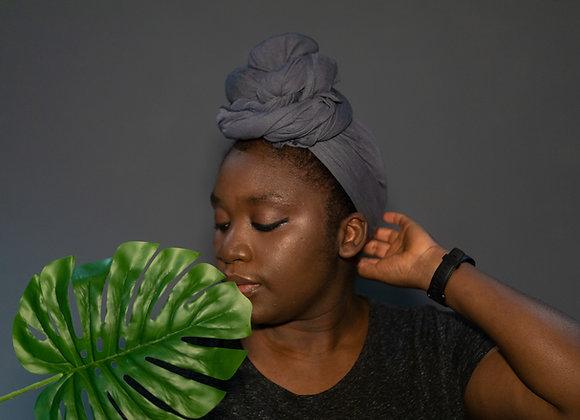 Grey Jersey Headwrap UK, Soft Jersey Headwrap, Stretch Headwrap, Viscose Jersey Hijab, Asikara by Laura Jane Plain Head Wrap