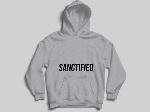 Heather Grey Sanctified Christian Hoodie by Stay Lit Apparel, Christian Clothing