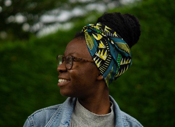 African Print Cotton Headwrap Asikara by Laura Jane Headwraps UK Head Wrap UK