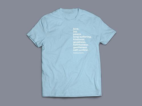 fruits of the Holy Spirit Christian T shirt, Christian clothing, Christian apparel